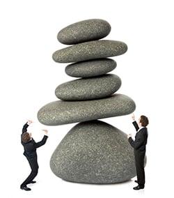 déséquilibre effort travail bascule effondrement tomber reteni